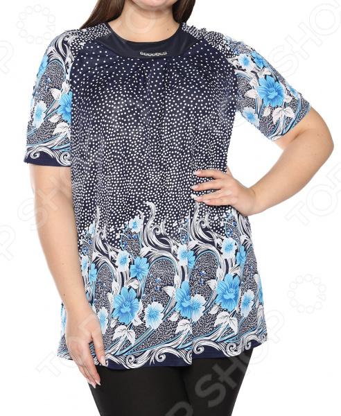 Блуза Лауме-Лайн «Источник красоты». Цвет: голубой