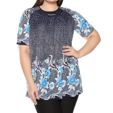 Купить Блуза Лауме-Лайн «Источник красоты». Цвет: голубой