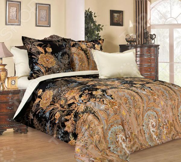 Комплект постельного белья Королевское Искушение «Музей». Цвет: черный