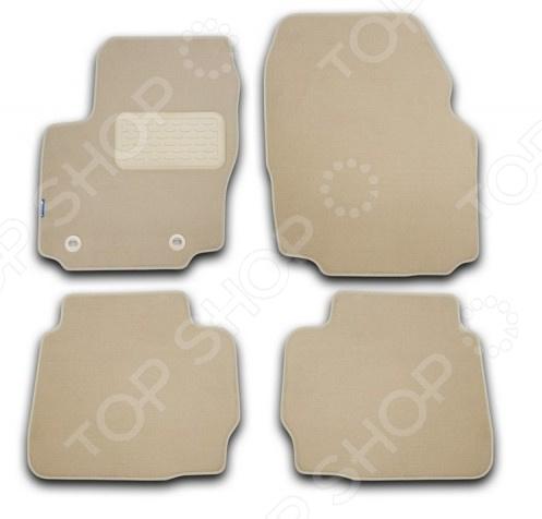 Комплект ковриков в салон автомобиля Novline-Autofamily Hyundai i30 2012. Цвет: бежевый