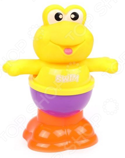 Игрушка для ванны детская Наша Игрушка «Лягушонок-пирамидка». В ассортименте заводная игрушка для ванны наша игрушка медвежонок m7039