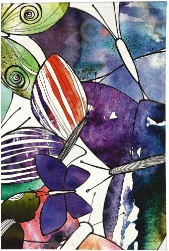 Обложка для паспорта кожаная Mitya Veselkov «Акварельные бабочки» обложка для паспорта printio бабочки
