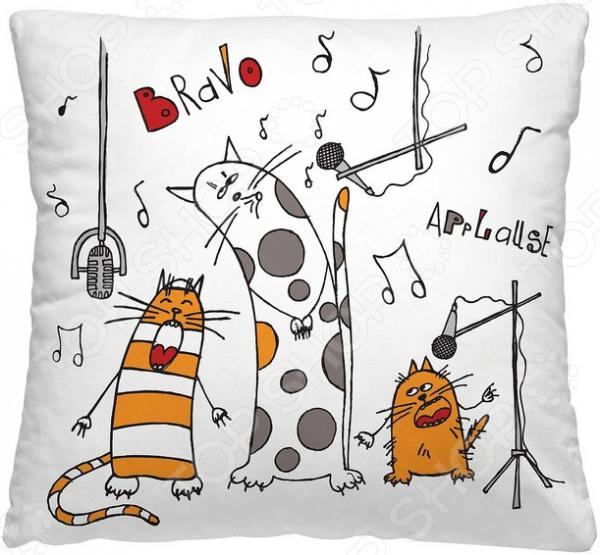Подушка декоративная Волшебная ночь «Веселые коты»