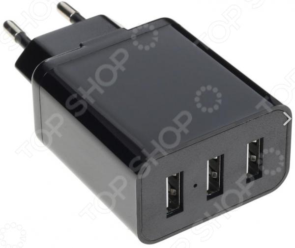 Фото - Сетевое зарядное устройство 3,1A, 3xUSB сетевое зарядное устройство deppa micro usb для цифровых устройств 1a черный 23120