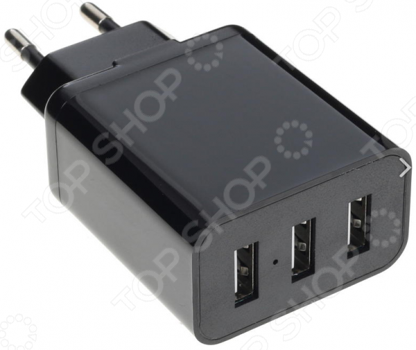 Сетевое зарядное устройство 3,1A, 3xUSB