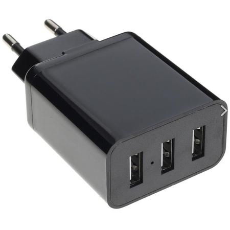 Купить Сетевое зарядное устройство 3,1A, 3xUSB