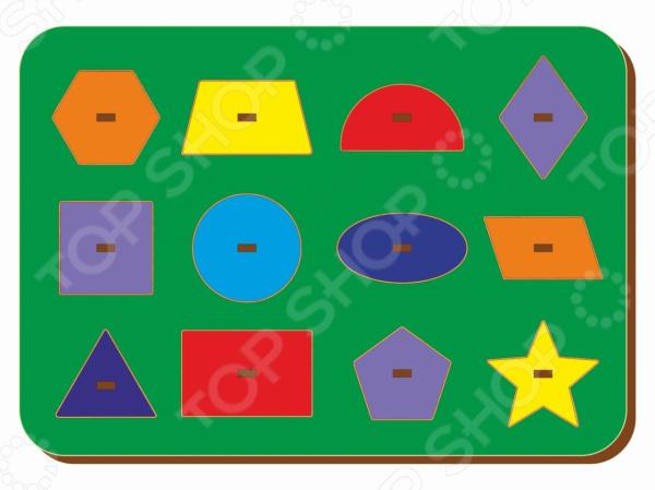 Игра развивающая WoodLand «Рамка-вкладыш: Монтессори геометрия 2»