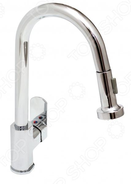 Смеситель для кухни с вытяжной лейкой Sink