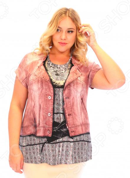 «Джинса». Цвет розовый Блуза Pretty Woman «Джинса». Цвет: розовый