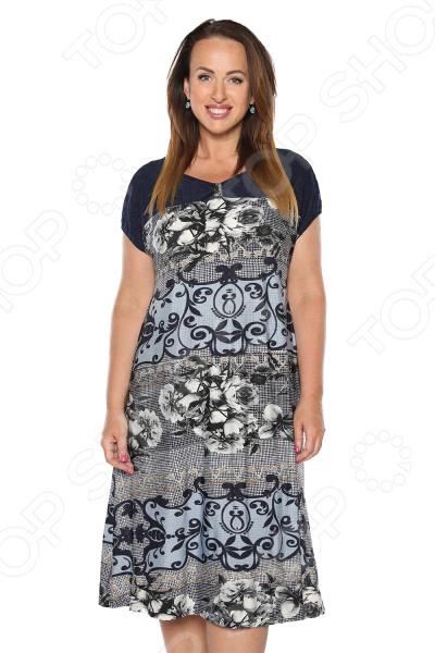 Платье Лауме-Лайн «Сердечные тайны». Цвет: темно-синий