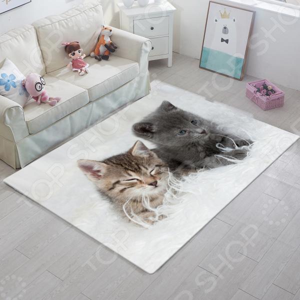 фото Ковер ТамиТекс «Два котенка», Коврики для детской комнаты