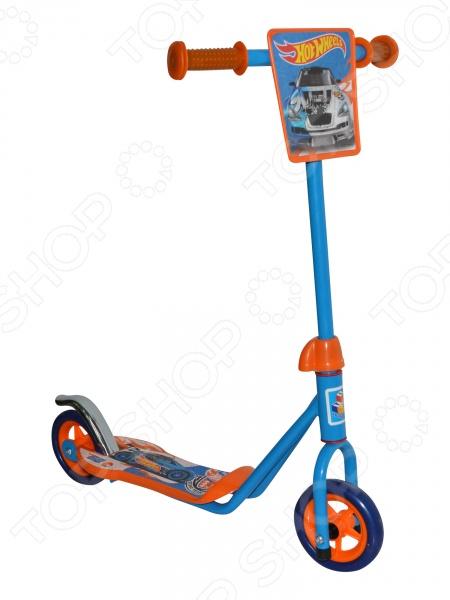 Самокат двухколесный 1 Toy Hot wheels EVA самокат hot wheels