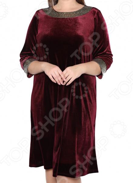 Платье Лауме-Лайн «Огни стиля». Цвет: бордовый