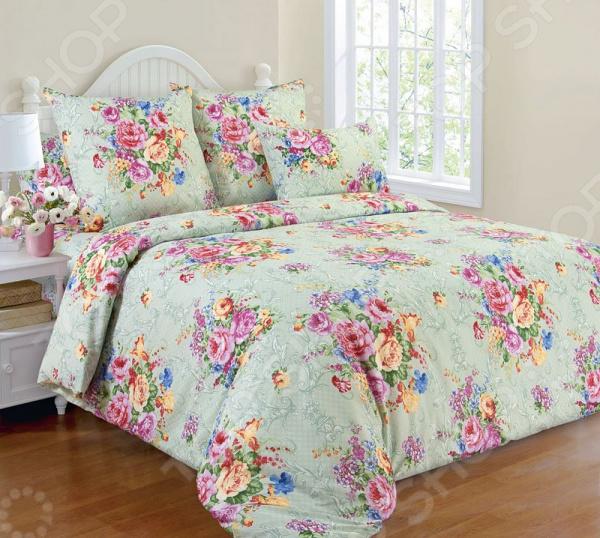 Комплект постельного белья Белиссимо «Розовый букет» комплект белья белиссимо пионы 2 спальный наволочки 70х70 цвет серый розовый 2100б