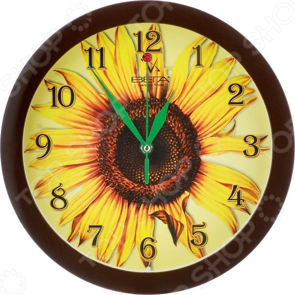 Часы настенные Вега П 1-9/7-15 «Подсолнух»