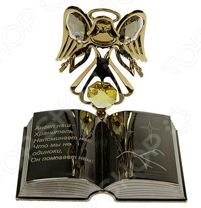 где купить  Фигурка декоративная Crystocraft «Ангел с книгой» с кристаллами Swarovski  по лучшей цене