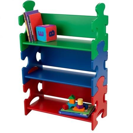 Купить Стеллаж детский KidKraft Puzzle Book Shelf Primary