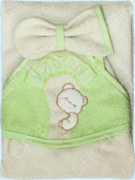 Полотенце-уголок с рукавицей Золотой Гусь «Забавный мишка»