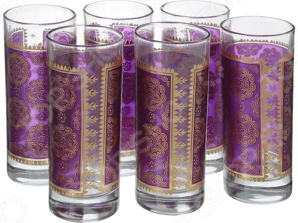 Набор стаканов Loraine «Круги и цветы» набор стаканов для напитков salt