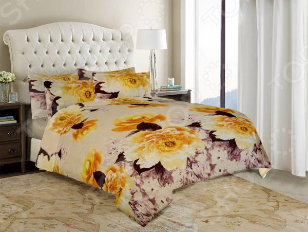 Комплект постельного белья «Нежность». Евро. Цвет: оранжевый