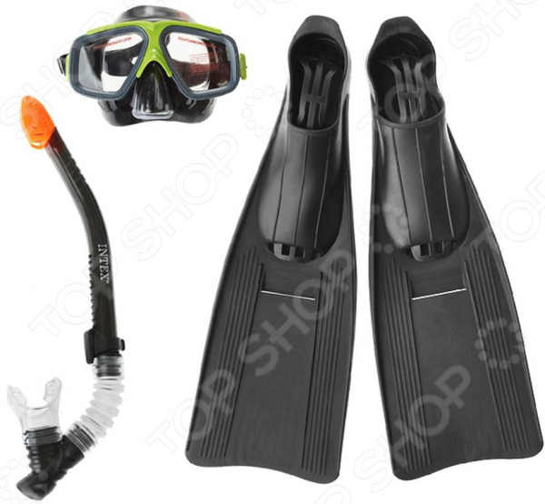 Набор для ныряния: маска, трубка и ласты Intex 55657 цена