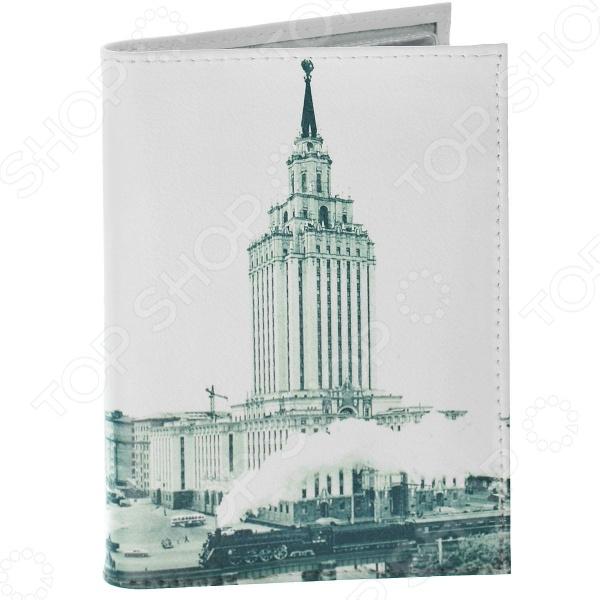 Обложка для автодокументов кожаная Mitya Veselkov «Гостиница. Ленинградская» гостиница
