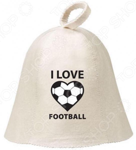 Шапка для бани и сауны Банные штучки Hot Pot «I love football» Шапка для бани и сауны Банные штучки Hot Pot I love football /