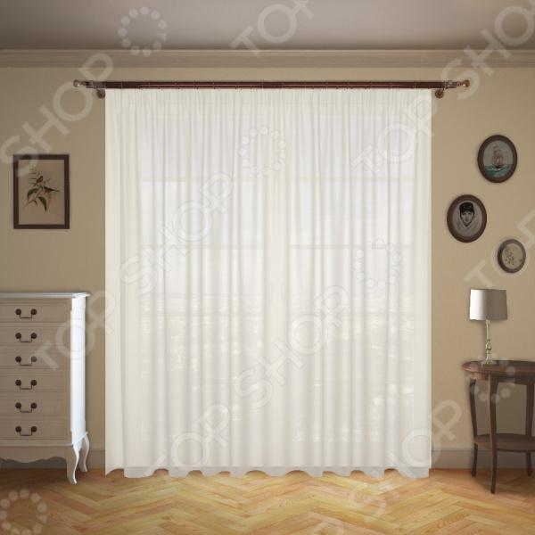 Штора легкая Синель «Мелодия» белый штора легкая правосторонняя синель акцент 122