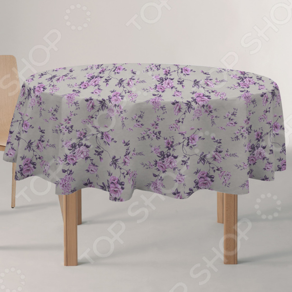 Скатерть круглая Protec Textil «Вальс цветов»