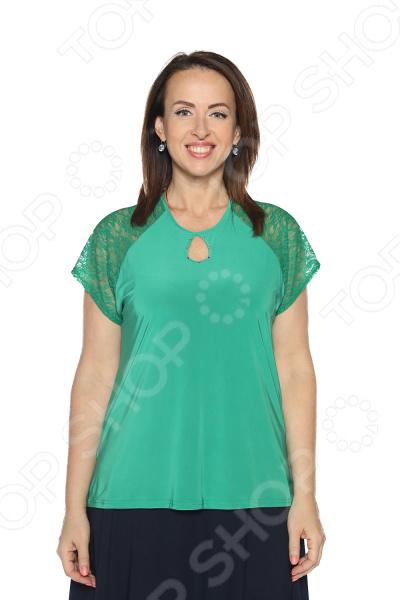 Блуза Pretty Woman «Счастливая капля». Цвет: зеленый блуза pretty woman волшебный взгляд цвет зеленый