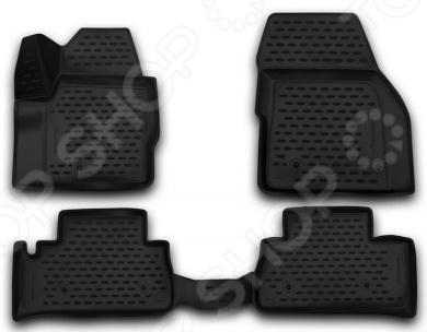 Комплект 3D ковриков в салон автомобиля Novline-Autofamily Land Rover Freelander 2 2013 комплект ковриков в салон автомобиля novline autofamily land rover range rover sport 2005 цвет бежевый