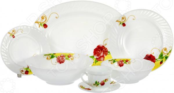 Набор столовой посуды OlAff «Одинокая роза» набор столовой посуды olaff эстелла