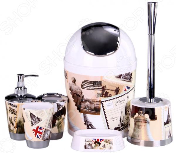 Набор аксессуаров для ванной комнаты Patricia «Город» аксессуары для ванной комнаты в москве