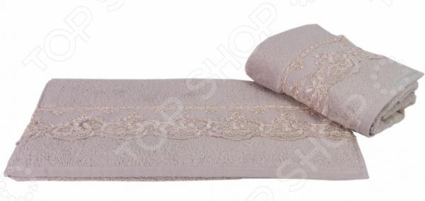 Полотенце махровое Hobby Home Collection Sidelya. Цвет: бежевый