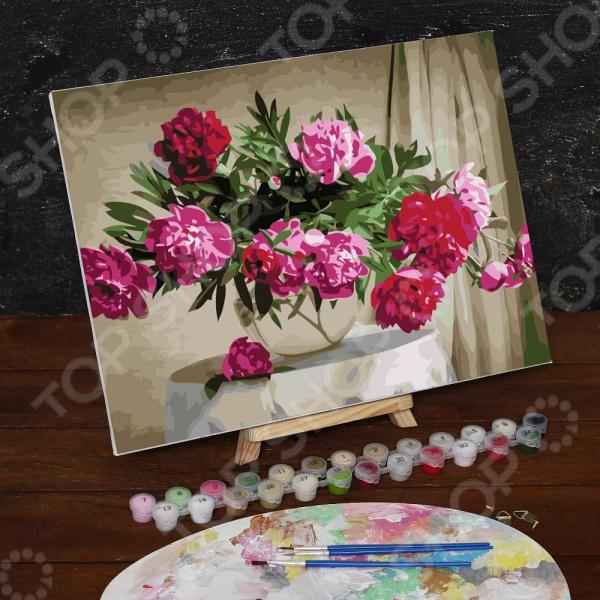 Картина по номерам Школа талантов «Букет в стеклянной вазе»