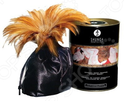 Пудра для тела Shunga «Клубника» natural instinct body balm 250 мл бальзам для тела с феромонами клубника и апельсин