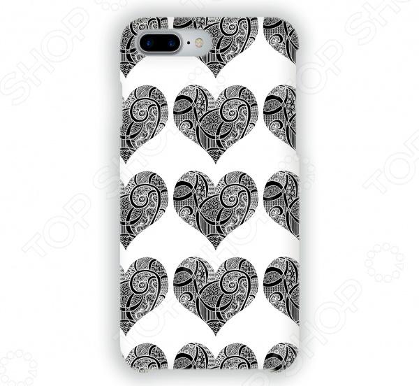 Чехол для iPhone 7 Plus Mitya Veselkov «Зентангл-сердца» чехлы для телефонов mitya veselkov чехол для iphone 7 plus зентангл череп ip7plus mitya 010