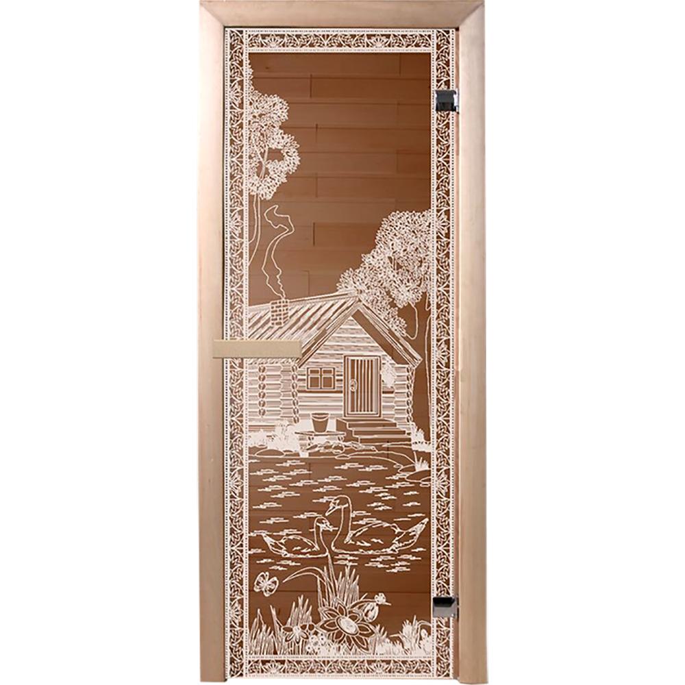 Дверь для бани Банные штучки «Банька в лесу» 34016