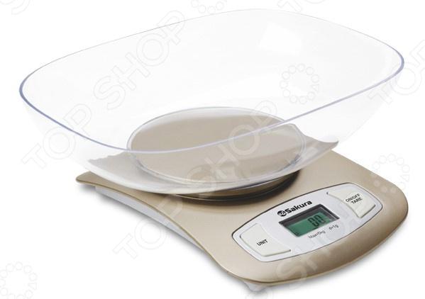 Весы кухонные Sakura SA-6052G чайник sakura sa 2715r