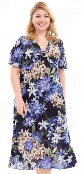 Платье Blagof «Плутония». Цвет: синий платье горная лаванда blagof платья и сарафаны с принтом