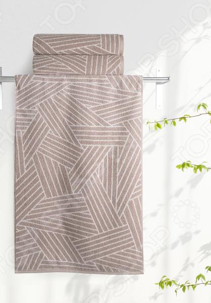 Полотенце махровое Aquarelle «Мербау вид 2». Цвет: мокко, бежевый полотенце махр aquarelle таллин 35х70см мокко