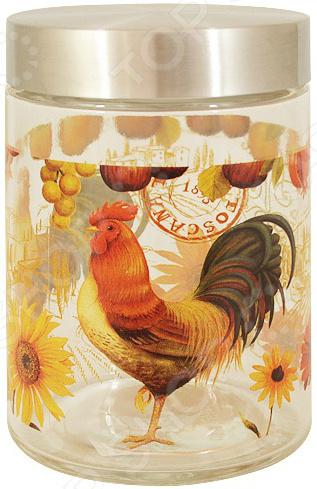 Банка для сыпучих продуктов Sinoglass «Солнечный день» банка для сыпучих продуктов sinoglass подсолнухи тосканы большая
