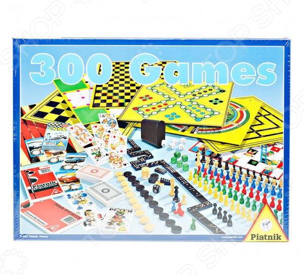 Набор настольных игр Piatnik «300 игр + шахматы» набор настольных игр феникс презент 29 14 5 3 2см в деревян коробке 35702