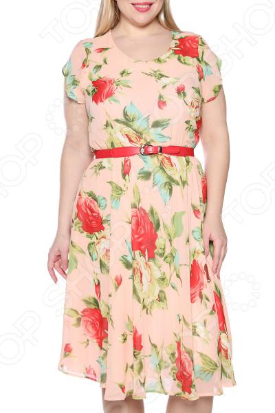 Платье LORICCI «Легкий день». Цвет: персиковый