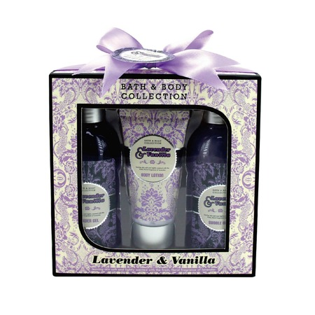 Купить Косметический набор для ванны Laura Amatti «Масло лаванды»: 3 шт.