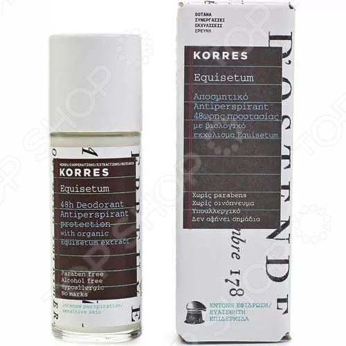 Дезодорант-антиперспирант Korres для защиты кожи (без отдушек) дезодорант ролл 48 часов для женщин lavilin 65 мл hlavin