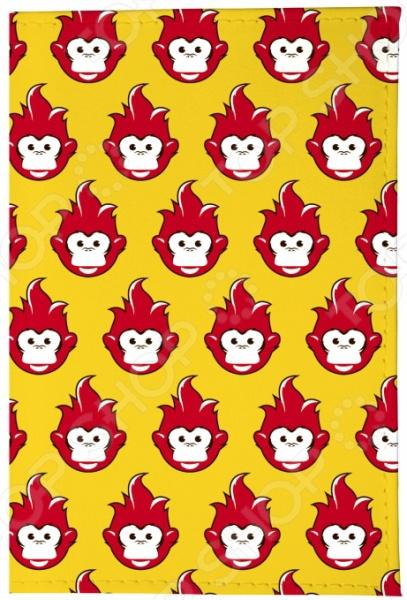 Обложка для паспорта кожаная Mitya Veselkov «Много огненных обезьян» винцесь мудров страна огненных птиц