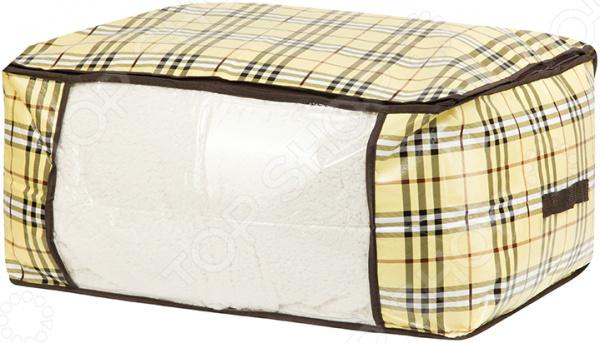 Кофр для хранения одеял и пледов EL Casa «Шотландка»