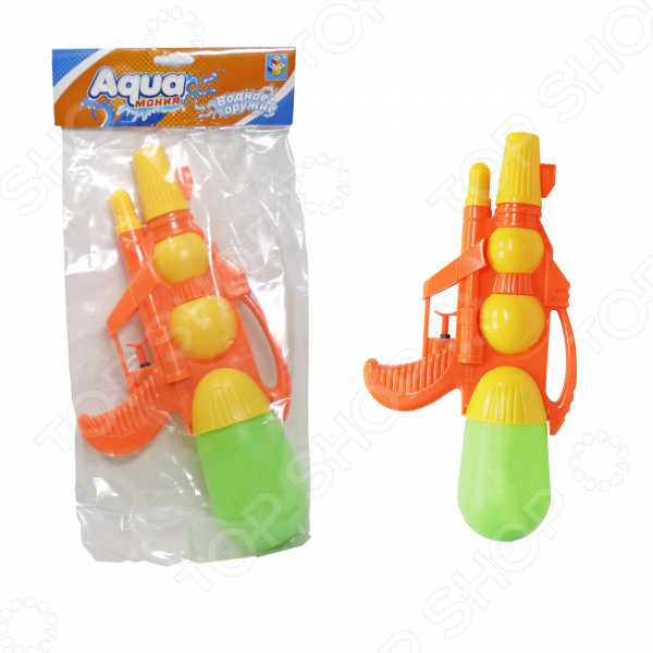 Пистолет водный 1 Toy «Аквамания» с двумя отверстиями Пистолет водный 1 Toy «Аквамания» с двумя отверстиями /