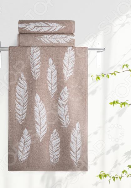 Полотенце махровое Aquarelle «Борнео вид 1». Цвет: мокко, белый полотенце махровое aquarelle борнео вид 1 цвет мокко белый
